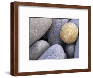 Pebbles in Sandymouth Beach, Cornwall, UK by Nadia Isakova
