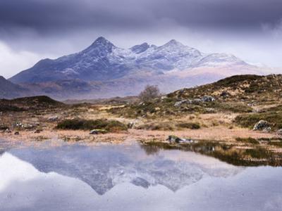 The Cuillins Reflected in the Lochan, Sligachan, Isle of Skye, Scotland, UK by Nadia Isakova