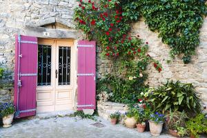Traditional Architecture in Aigne Village, Languedoc-Roussillon, France by Nadia Isakova