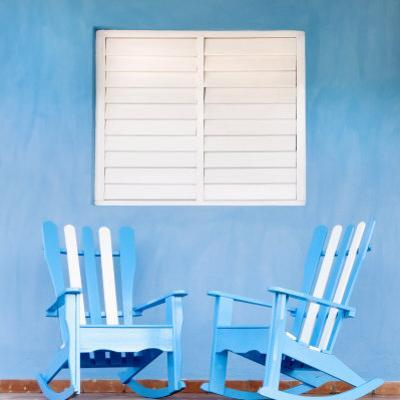 Traditional Rocking Chairs in Vinales, Cuba, Caribbean by Nadia Isakova