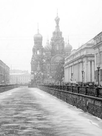 View towards Church of our Saviour on the spilled blood, Saint Petersburg, Russia by Nadia Isakova