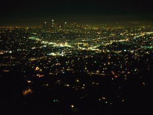 Night View of Los Angeles City Lights Seen from Griffith Observatory by Nadia M. B. Hughes