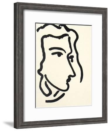 Nadia Regardant A Droite, Femme III-Henri Matisse-Framed Art Print