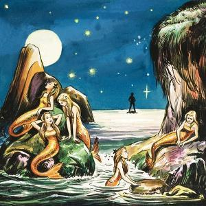 Peter and the Mermaids, Illustration from 'Peter Pan' by J.M. Barrie by Nadir Quinto