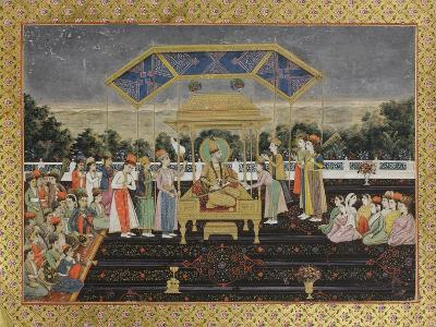 Nadir Shah on the Peacock Throne after His Defeat of Muhammad Shah, C.1850--Giclee Print