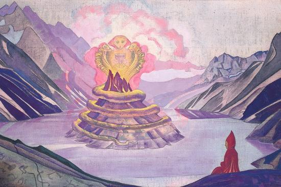 Nagarjuna Conqueror of the Serpent, 1925-Nicholas Roerich-Giclee Print