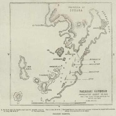 Nagasaki Harbour--Giclee Print