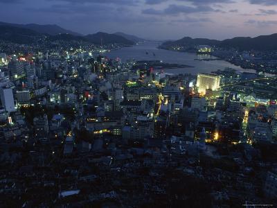 Nagasaki Overlooking its Harbor at Dusk, Japan-James L^ Stanfield-Photographic Print
