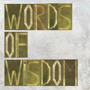 """Earthy Background Image And Design Element Depicting The Words """"Words Of Wisdom"""" by nagib"""