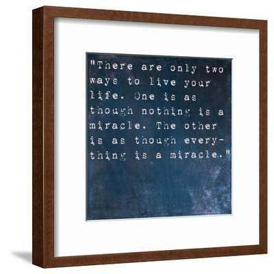 Inspirational Quote By Albert Einstein On Earthy Blue Background