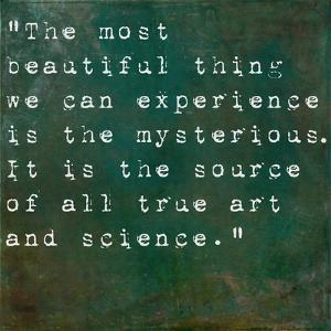 Inspirational Quote By Albert Einstein On Earthy Green Background by nagib