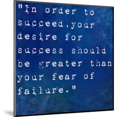 Inspirational Quote By Bill Cosby On Earthy Blue Background