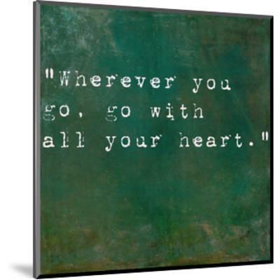 Inspirational Quote By Confucius On Earthy Green Background