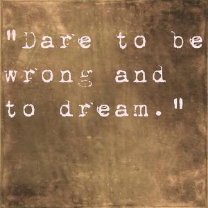 Inspirational Quote By Friedrich Von Schiller On Earthy Brown Background by nagib