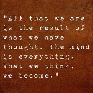 Inspirational Quote By Siddhartha Gautama (The Buddha) On Earthy Background by nagib