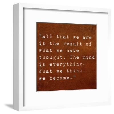 Inspirational Quote By Siddhartha Gautama (The Buddha) On Earthy Background
