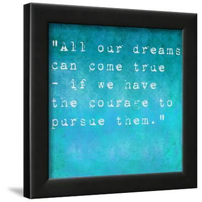 Inspirational Quote By Walt Disney On Earthy Background