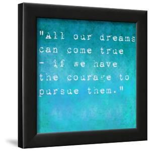 Inspirational Quote By Walt Disney On Earthy Background by nagib