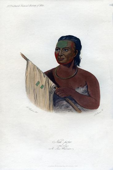 Nah-Pope (The Sou), a Sac Warrior, 1848-Harris-Giclee Print