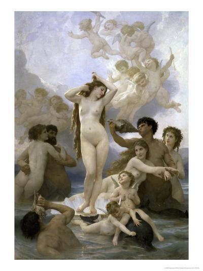 Naissance de Venus-William Adolphe Bouguereau-Giclee Print