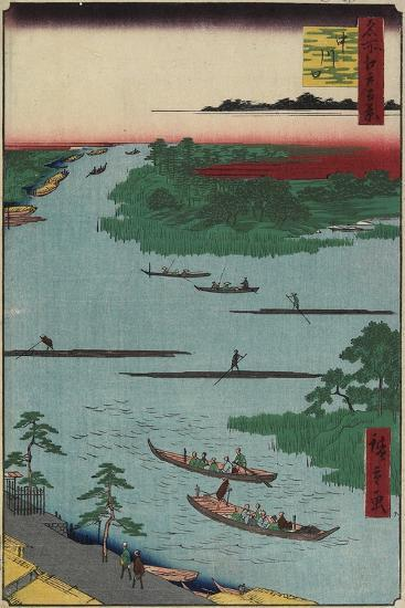 Nakagawa River Mouth, March 1857-Utagawa Hiroshige-Giclee Print