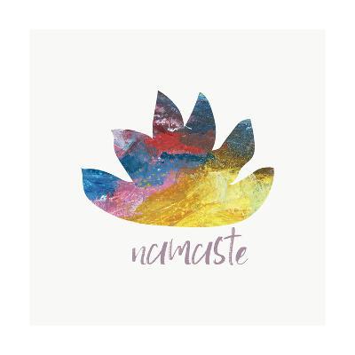 Namaste Lotus-Pamela J.-Art Print