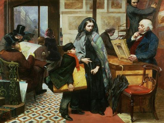 Nameless and Friendless, 1857-Emily Mary Osborn-Giclee Print