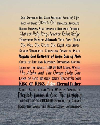Names of Jesus Ocean Sunset-Inspire Me-Art Print
