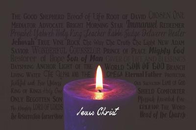 Names of Jesus Purple Candle-Inspire Me-Art Print