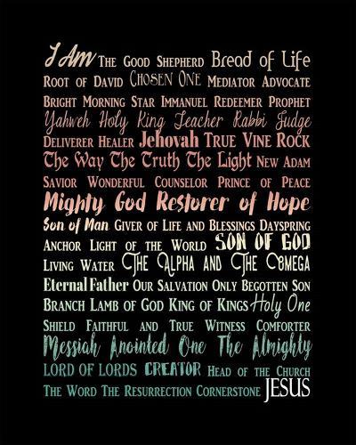 Names of Jesus Rectangle Orange Ombre Text-Inspire Me-Art Print