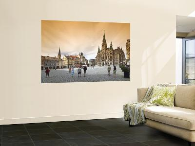 Namesti Benese with Town Hall-Witold Skrypczak-Wall Mural