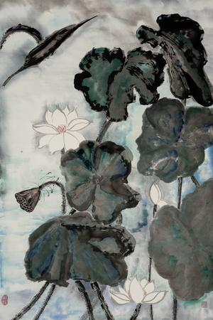 Lotus Study with Blue Green I
