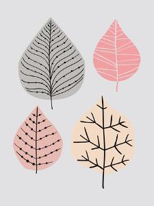 Leavesgrey by Nanamia Design
