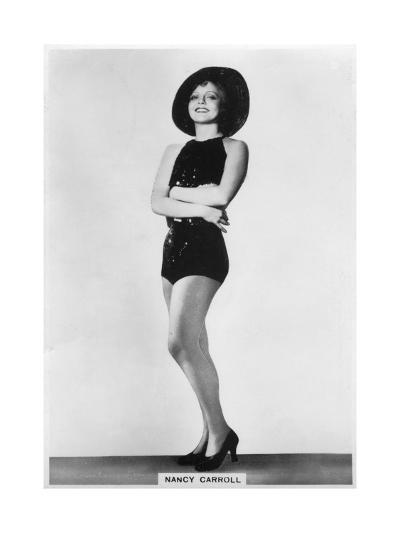 Nancy Carroll, American Film Actress, 1938--Giclee Print