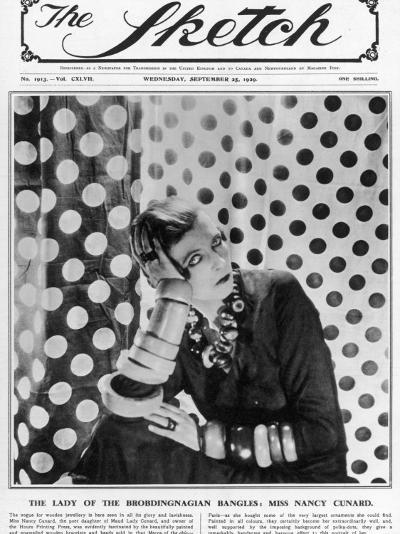 Nancy Cunard on Cover of the Sketch--Photographic Print