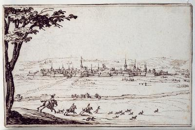 Nancy in the Distance: Harriers Pursuing a Hare-Jacques Callot-Giclee Print