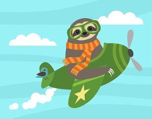 Airborne Sloth by Nancy Lee