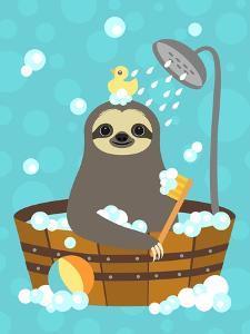 Bathing Sloth by Nancy Lee