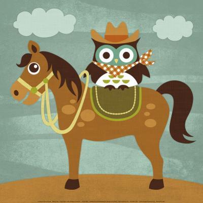 Cowboy Owl on Horse
