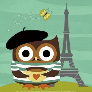 Owl in Paris by Nancy Lee
