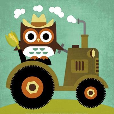 Owl on Tractor by Nancy Lee