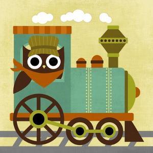 Owl Train Conductor by Nancy Lee