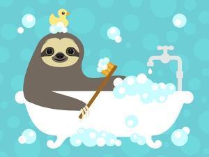 Scrubbing Bubbles Sloth by Nancy Lee