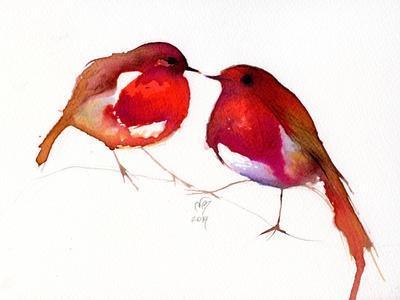 Two Little Ink Birds, 2014,