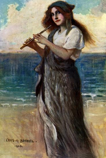 Nancy Price (1880-197), English Actress, as 'Pallas Athene' in Ulysses, 1902-Charles A Buchel-Giclee Print