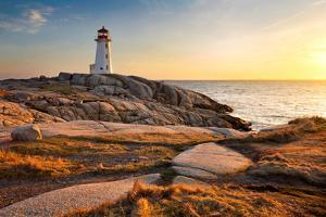 Peggy's Cove Lighthouse by Nancy Rose