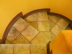 Abstract Pattern on Stairs, San Miguel De Allende, Mexico by Nancy Rotenberg