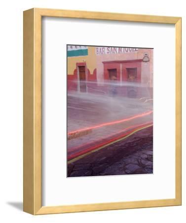 Bar San Miguel Entrance with Car Taillights, San Miguel De Allende, Mexico