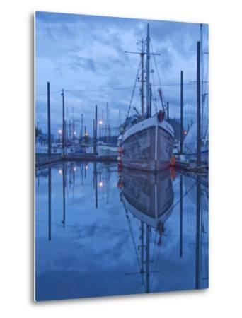 Boats in Harbor at Twilight, Southeast Alaska, USA