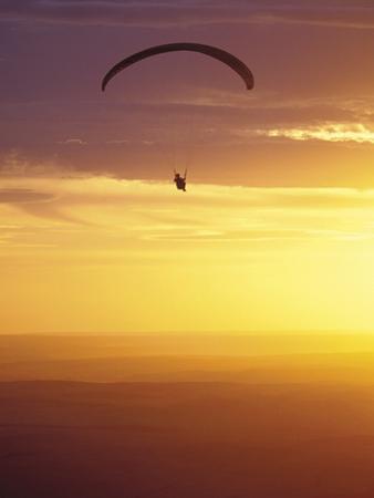 Hang Glider at Sunset, Palouse, Washington, USA